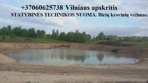 Viksrinio ekskavatoriaus nuoma. Tvenkiniu prudu kasimas, kasame tvenkinius 860625738 Vilnius