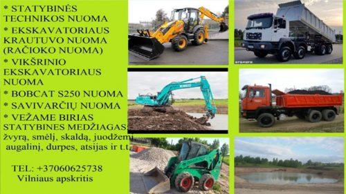 Vezame juodzemi, augalini sluoksni, smeli, zvyra, trupinta betona 860625738 Vilniaus apskritis