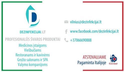 Profesionalios dezinfekcijos priemonės iš Italijos, švaros prekės