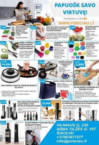 Modernios virtuvės reikmenys ir dovanų idėjos