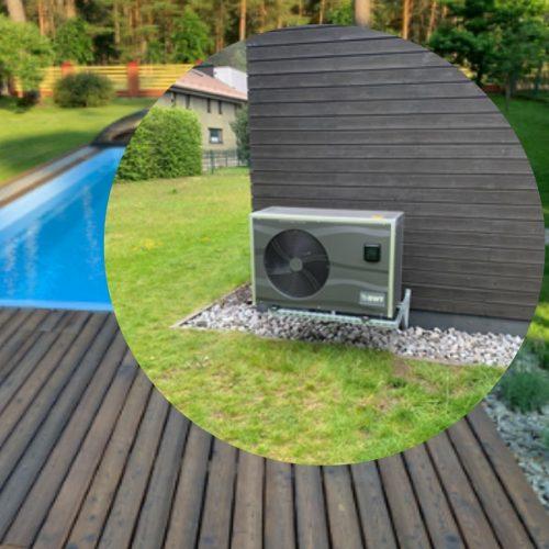 Lauko baseino šildymo įrangos montavimas